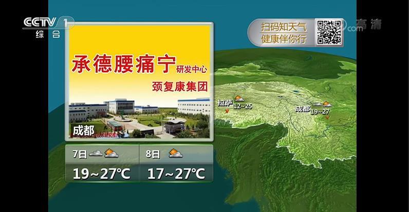 2019年CCTV-1新闻联播天气预报广告